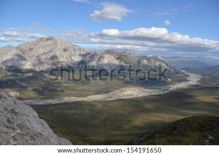 Rugged Mountain Landscape - stock photo