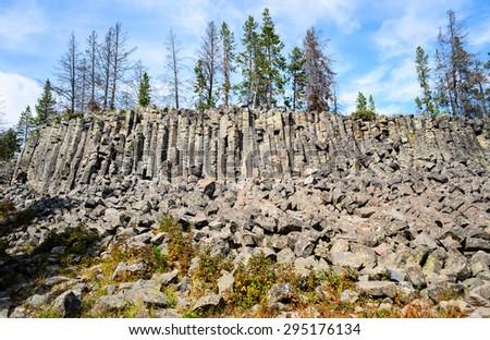 Rugged Ridge at Yellow Stone National Park - stock photo