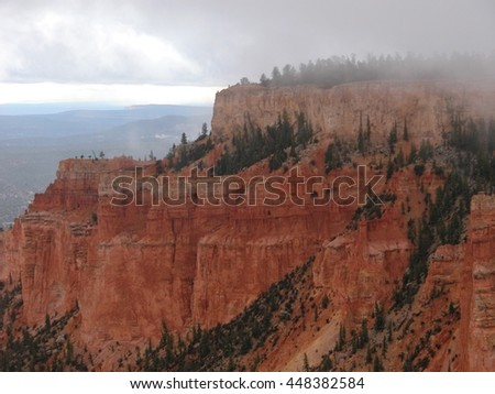 Rugged terrain of Bryce Canyon