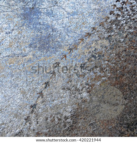 Rugged terrain  with footprints - stock photo