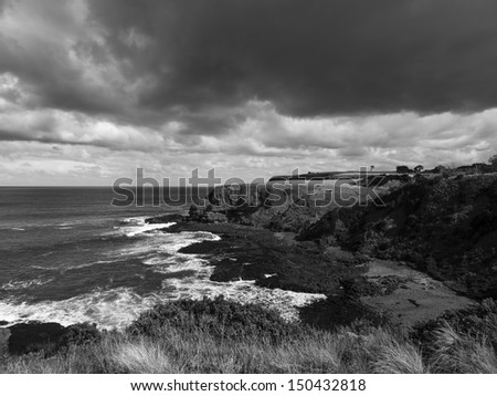 Rugged Victorian coastline