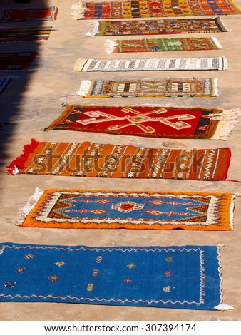 Rugs ready to Sell in Morocco.