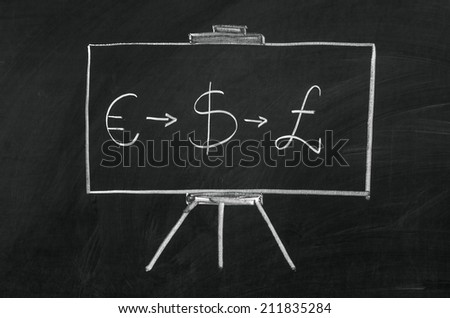 Rugsejo pirmoji writed on blackboard with chalk