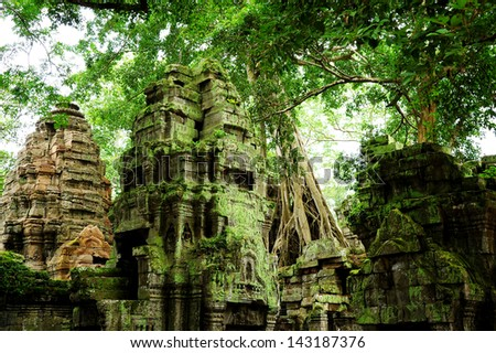 Ruin of Temple in Angkor Thom, Cambodia