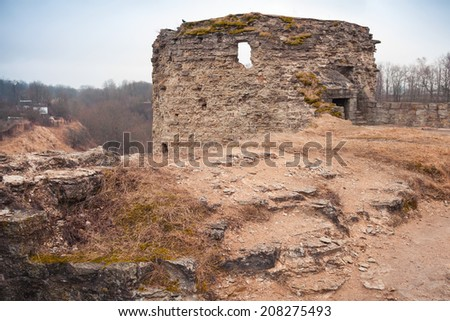 Ruined tower of Koporye Fortress, Leningrad Oblast, Russia