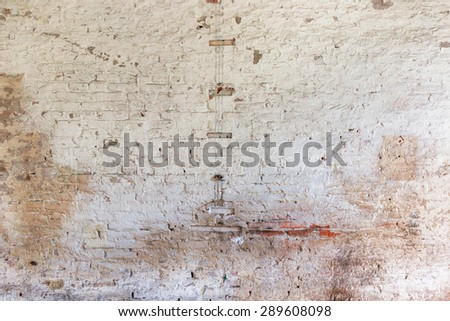 Ruined wall texture - stock photo