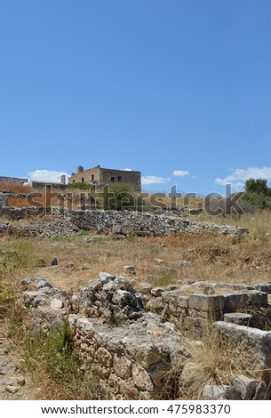 Ruins at Ancient Aptera near Souda in Crete