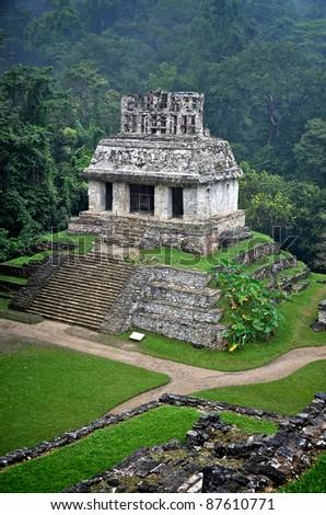 Ruins at Palenque - stock photo