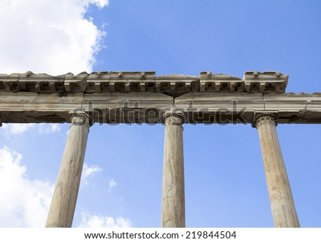 ruins in Pergamon, Bergama, Turkey