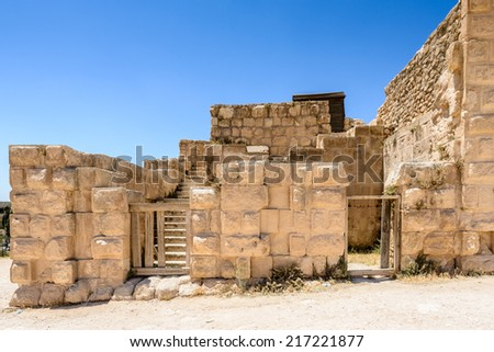 Ruins in the ancient city of Jerash (Gerasa of Antiquity),
