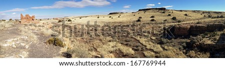 Ruins in Wupatki National Monument in Arizona - stock photo