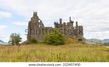 Ruins of an old castle in Scotland - stock photo
