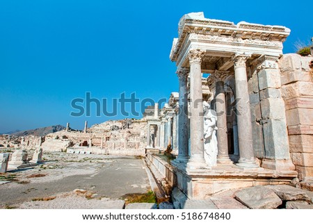 Ruins of ancient city in Sagalassos in Turkey