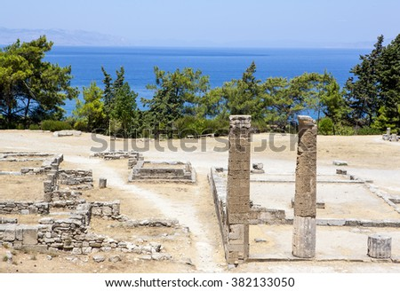 Ruins of Ancient city of Kameiros, Rhodes, Greece.