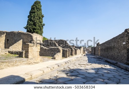 Ruins of Ancient Pompeii in Italy
