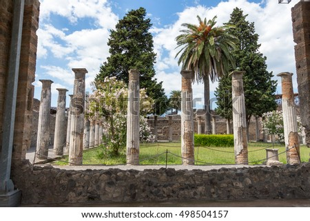 Ruins of ancient Pompeii, Italy