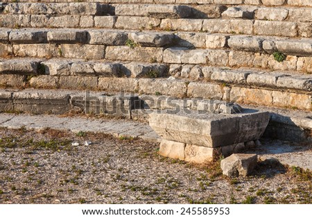 Ruins of ancient Roman theater in Byblos, Lebanon.
