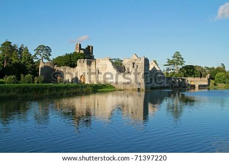 Ruins of castle in Adare - Ireland - stock photo