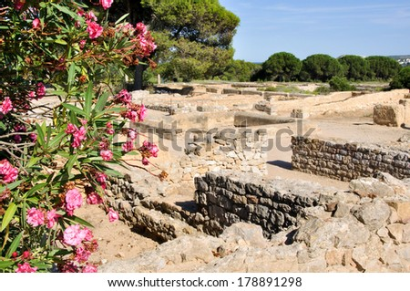 Ruins of Empuries, ancient greek and roman city, Catalonia (Spain)