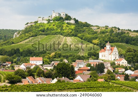 ruins of Falkenstein Castle, Lower Austria, Austria - stock photo