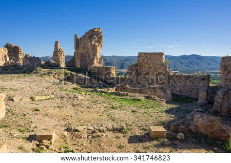 Ruins of fortress  Montesa, province of Alicante, Spain