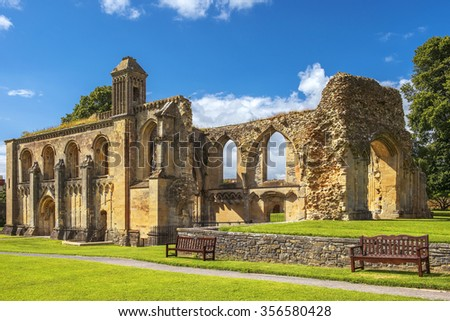 ruins of Glastonbury Abbey, was a monastery in Glastonbury, Somerset, England
