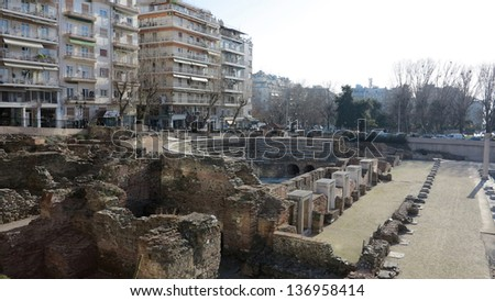 ruins of greek civilization in athens, greece