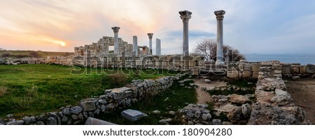Ruins of  greek colony Chersones, Sevastopol