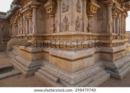 Ruins of Hampi, a UNESCO World Heritage Site, India. - stock photo