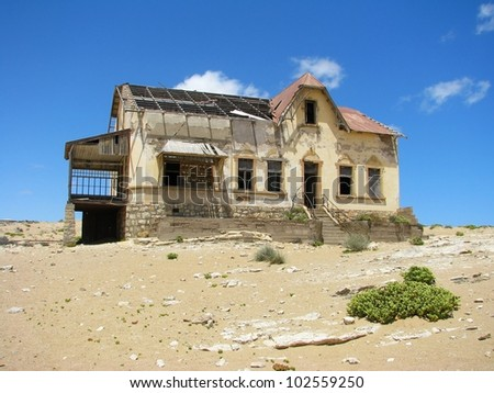 Ruins of house in ghost town Kolmasnkop, Namibia