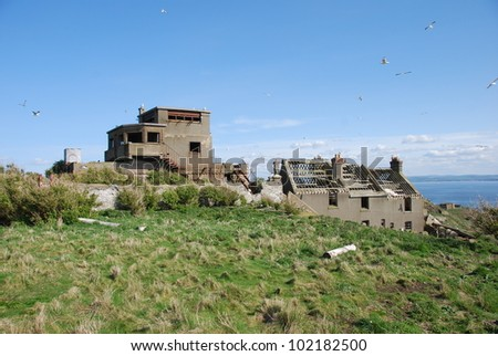 Ruins of Inchkeith - stock photo