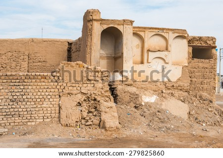 Ruins of Noshabad, ancient town in Iran