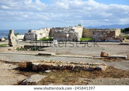 Ruins of palace in Vouni, North Cyprus