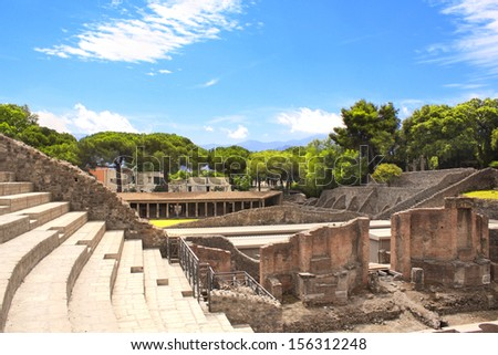 Ruins of Pompeii, Italy - stock photo