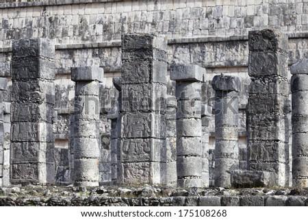 Ruins of pyramids Maya, Chichen-Itza, Mexico - stock photo