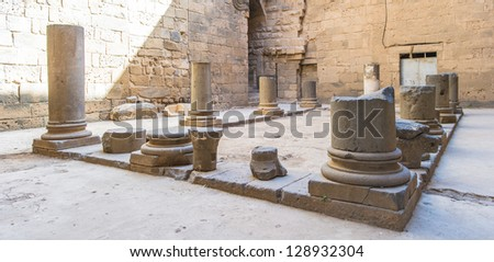 Ruins of the Ancient City of Bosra, UNESCO World Heritage, - stock photo