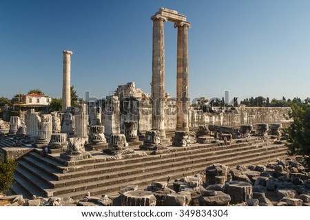 Ruins of the ancient city of Didyma (current Didim), Turkey - stock photo