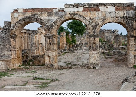 ruins of the ancient city of Hierapolis