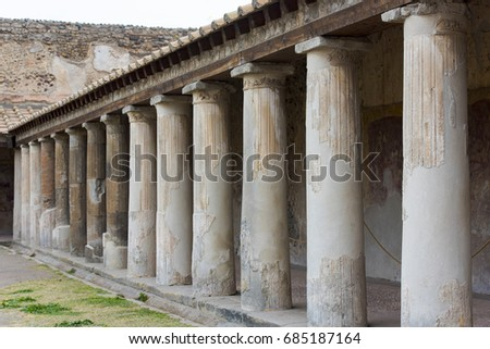 Ruins of the ancient Italian town Pompeii