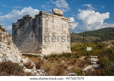 Ruins of the ancient Lycian city Patara, Turkey