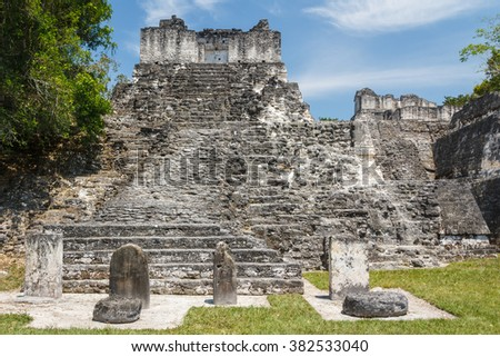 Ruins of the ancient Mayan city of Tikal, Guatemala