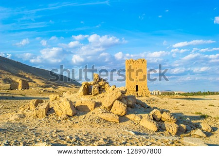 Ruins of the Ancient Roman time town called Palmyra, Syria