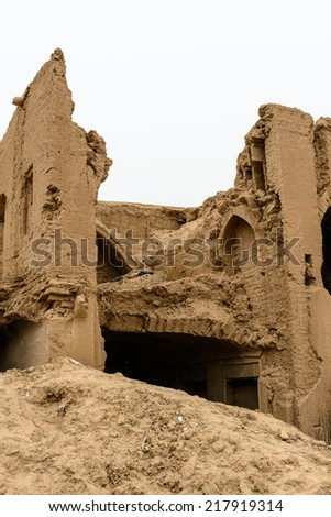 Ruins of the ancient town in Meybod, Iran