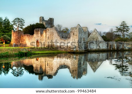 Ruins of the castle in Adare, Co. Limerick - Ireland - stock photo