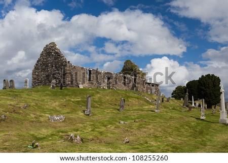 Ruins of the church, Isle of Skye, Scotland - stock photo