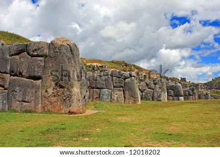 Ruins of the Inca Fortification Outside of Cusco, Peru, called Sacsayhuaman