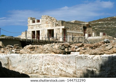 Ruins of the Knossos palace. Crete, Greece