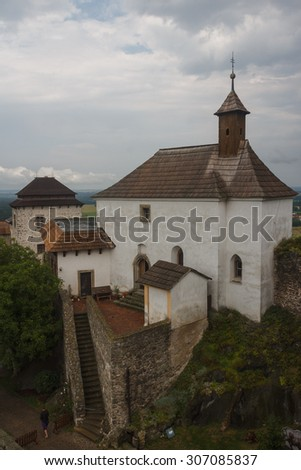Ruins of the medieval castle of Kuneticka-Hora, Czech Republic
