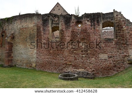 Ruins of the old Synagogue,Speyer Germany - stock photo