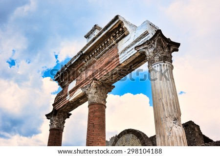 Ruins of the portico in the Forum, Rome